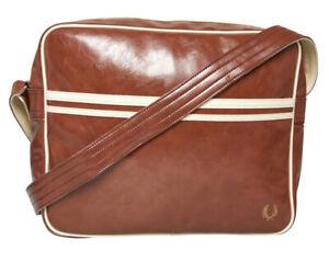 Fred Perry Mens Messenger Classic Shoulder Bag Tan/Ecru Retro style new