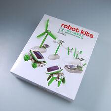 US DIY 6 in 1 Educational Learning Toys Solar Power Robot Kit Children Kids Gift