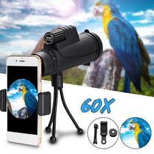 40X60 Phone Telescope Zoom Optical HD Lens Monocular W/ Tripod+Clip For iPhone