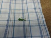 100% GENUINE DEVANLAY LACOSTE SHORT SLEEVE CHECK SHIRT IN SIZE 45 3XL FANTASTIC
