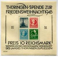 Germany Thuringia 16N7 NH Sou.sheet. Tiny gum bend LL mentioned for accuracy