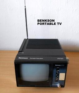 Vintage -  Benkson PTV7 Portable Black & White Television, Retro  TV.