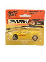 MB-49 Lamborghini Diablo Vintage Matchbox Blister Pack c.1993 Unopened
