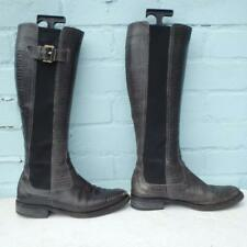 Giorgio Armani Leather Boots Size Uk 5.5 Eur 38.5 Pull on Elasticated Snake Grey
