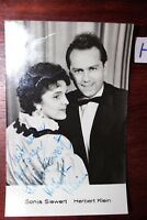 Postkarte Ansichtskarte Schauspieler Sonia Siewert Herbert Klein Autogramm