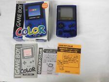 Z3335 Nintendo Gameboy Color console Midnight Blue Japan GB GBC w/box