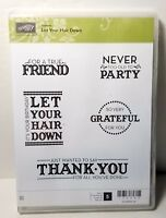 Stampin' Up! Let Your Hair Down Stamp Set Birthday Friend Thank You Hostess