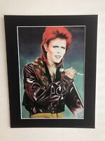 "David Bowie original Art SA2 14"" x 11"" A4 Mounted Print"