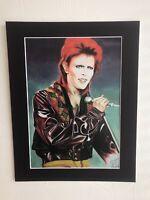 "David Bowie original Art SA2 14"" x 11"" A4 Mounted Print"