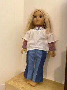 """American Girl Doll 18"""" Julie Albright 1974 Original with Outfit TLC"""