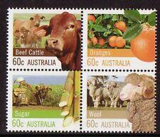 AUSTRALIE 2012 AGRICULTURE ll NON MONTÉS EXCELLENT ÉTAT, MNH BLOC OF 4