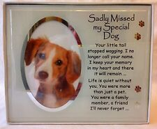 Sadly Missed My Special Dog Pet Photo Memorial Plaque 19 X 23cm
