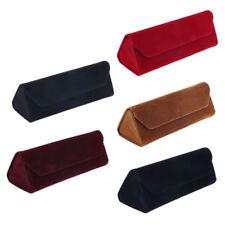 Foldable Velvet Travel Hard Glasses Box Sunglasses Spectacles Protector Case