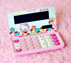 Cute Hello Kitty Mini Pocket 8 Digit Electronic Calculator Standard Function
