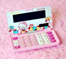 Cute Hello Kitty Mini Pocket 8 Digit Electronic Calculator Standard Function