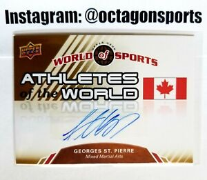 2009 UPPER DECK WOS UFC GEORGES  ST. PIERRE RC/AUTO!! HALL OF FAME CHAMP!!