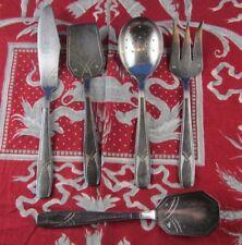 ancien couverts bebe ou service a kouglof metal argenté poincon epoque art deco
