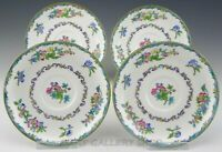 Vintage Minton England B937 FLORAL SAUCERS ONLY NO CUPS Set of 4