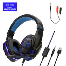 Gamer Headphone for PC PS4 Gaming Headset Adjustable Stereo Bass Computer Wired