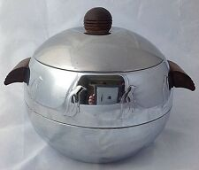 West Bend Penguin Insulated Hot Cold Server Ice Bucket Chrome Mid Century