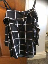 Blusa Para Mujer En Negro Y Blanco cheque por selecciona talla 10