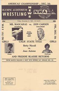 NWA Wrestling Mailer December 1969 Olympic Auditorium Mil Mascaras Vintage