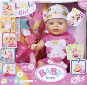 """Zapf 827321 BABY born Soft Touch Little Girl 36 cm """"Das kleine Mädchen, Little"""