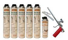 Set Schaumpistole Metall + 5x750ml Pistolenschaum + 500ml Reiniger Bauschaum PF3
