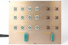Custom Headphone/Video Patch Bay Panel 12x 4-Pin XLRF / 2x ELCO / 6x SO-239 #2