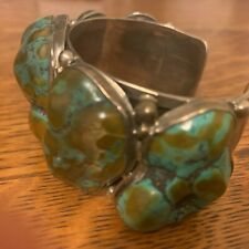 Bold chunky Royston turquoise cuff by Rosalena Francisco