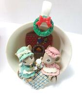 Enesco Treasury of Christmas Pin Up, Tea for Two Ornaments