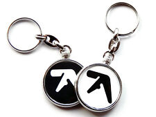 More details for aphex twin techno electronic music chrome keyring picture both sides