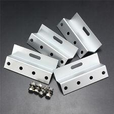 4xPcs New Solar Panel Mounting Aluminum Z Bracket Brackets Support Kits Screws