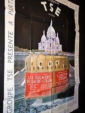 LES ESCALIERS DU SACRE-COEUR  ! rare affiche cinema theatre paris