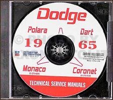 1965 Dodge Auto CD Riparazione Manuale di Negozio Coronet Dart Polara Monaco