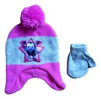 Disney Vampirina Girl Winter Beanie Hat Mittens Gloves Set Kids Toddler Toy Pink