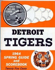 1964 Detroit Tiger Spring Training Scorebook/Program - vs. Yankees