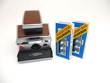1970 Polaroid SX70 SX-70 Land Camera Alpha 1 Metall brown. + 2x Flash bar  lr007