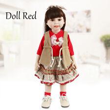 """18"""" Bébé Reborn Dolls Silicone Realistic Lifelike poupée fille nouveau-né Noël UK"""