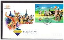 Indonesia 2003 FDC Stamp Exhibition Bongkok Thailand Elephant Soccer S/S
