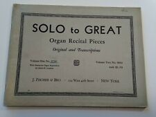 Church Organ Music Solo to Great Organ Recital Pieces Vol Two 2 Hammond FISCHER