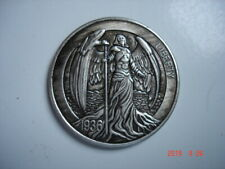Something Different For You Collection Deep Carving Angel In Antique Silver Coin