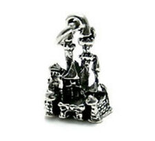 925 Sterling Silver 3D Magical Castle Charm