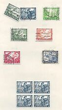 German Reich stamps 1933 Collection of 11 stamps  CAT. VALUE $195