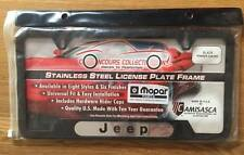 JEEP STAINLESS STEEL (BLACK POWDER COATED) LICENSE PLATE FRAME