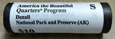 "2012 S Denali National Park Quarter ROLL Alaska U.S. Mint ""BU"" ATB series"
