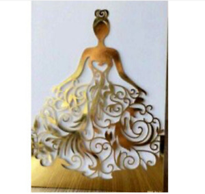 10PCS Laser Cut Party  Invitations Sweet 16, Wedding, Quinceanera Party Card