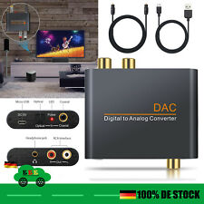 Digital zu Analog Audio Wandler Konverter RCA Klinke 2x Ausgang Toslink Koax DAC