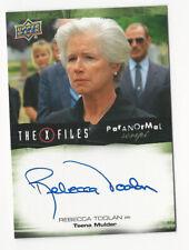 Rebecca Toolan The X Files Ufos & Aliens Paranormal Script Autograph Card Auto