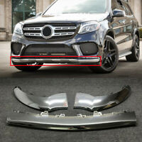 3Pc Front Bumper Chrome Trim Molding Fit For Mercedes Benz GLE350 GLE400 GLS550